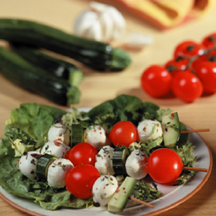 Small Image of Fresh Mozzarella Kebabs