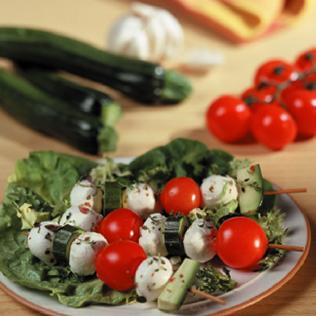 Small Image of Fresh Mozzarella Kebabs