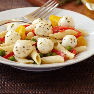 Small Image of Penne and Garden Vegetables Alla Mozzarella