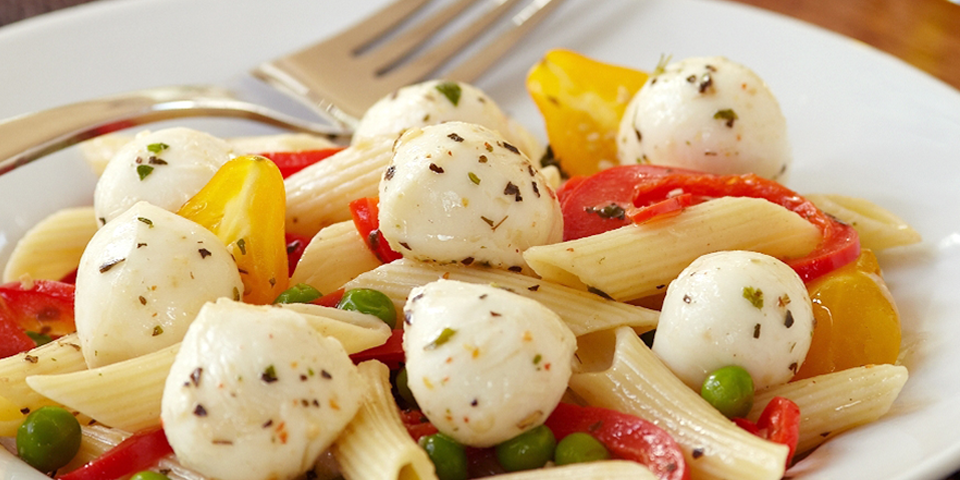 Large Image of Penne and Garden Vegetables Alla Mozzarella
