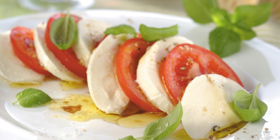 Large Image of Caprese Salad with Guacamole
