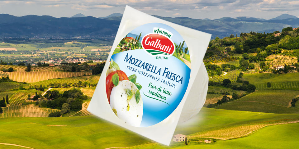 Image of Galbani Fresh Mozzarella Ball on Mountains