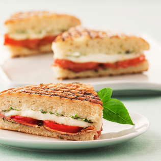 Small Image of Panini with Prosciutto and Fresh Mozzarella