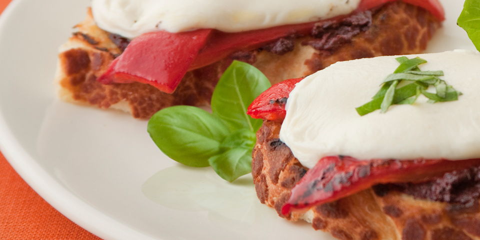 Large Image of Tostini with Fresh Mozzarella and Tapenade