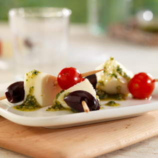 Small Image of Caprese Olive Skewers