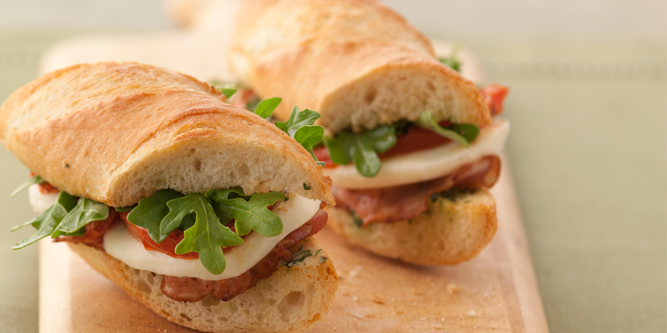 Large Image of Pancetta Sandwich with Fresh Mozzarella